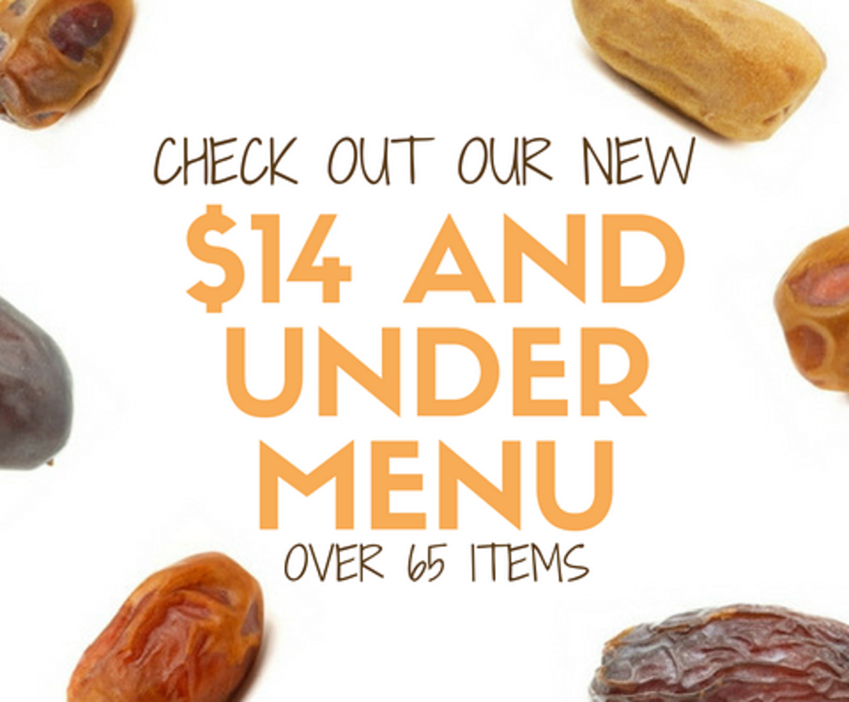 $14 And Under Menu