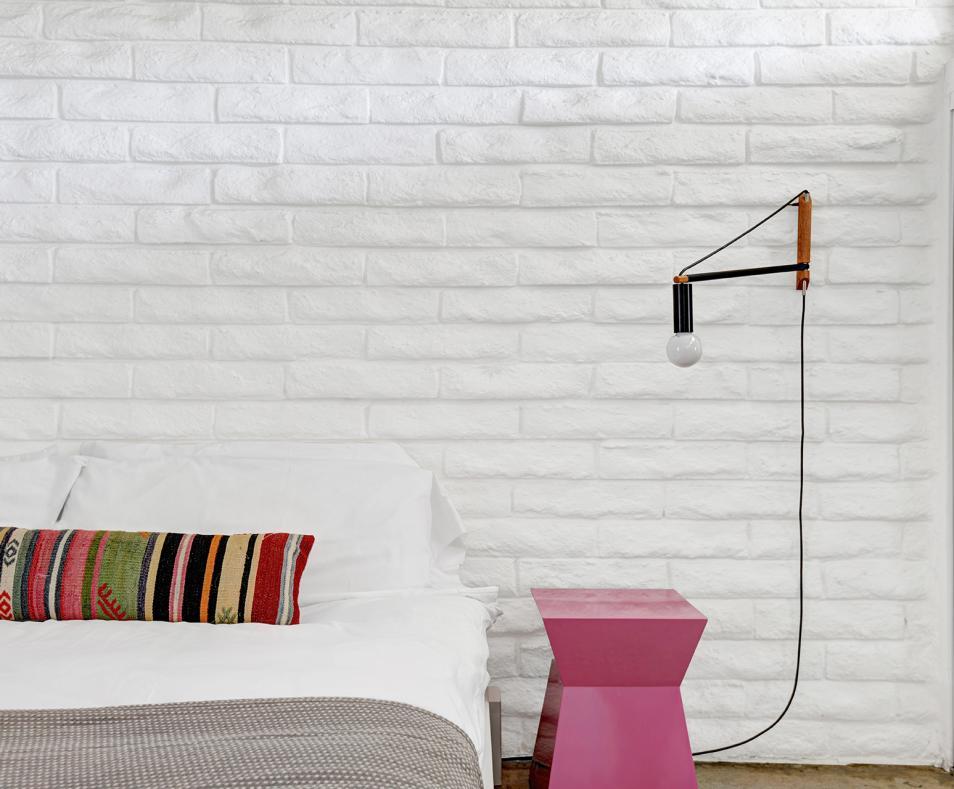 Unit 1 one bedroom suite bedroom detail - midcentury modern