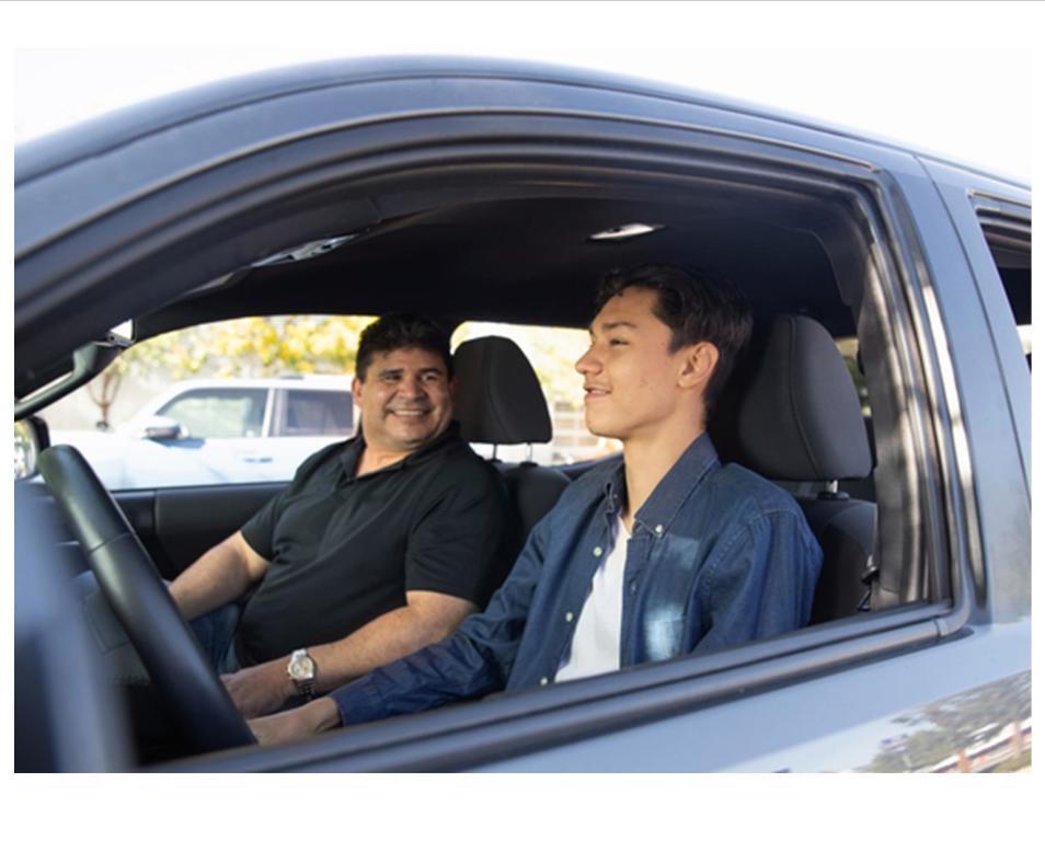 Big Bro little Bro driving lesson