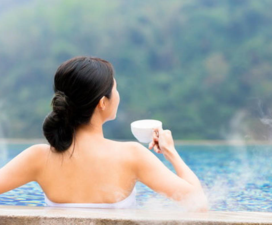 coffee in the pool