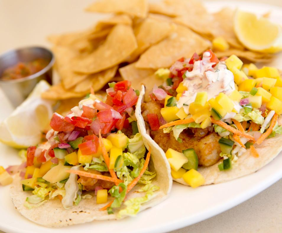 Purple Palm Restaurant fish tacos