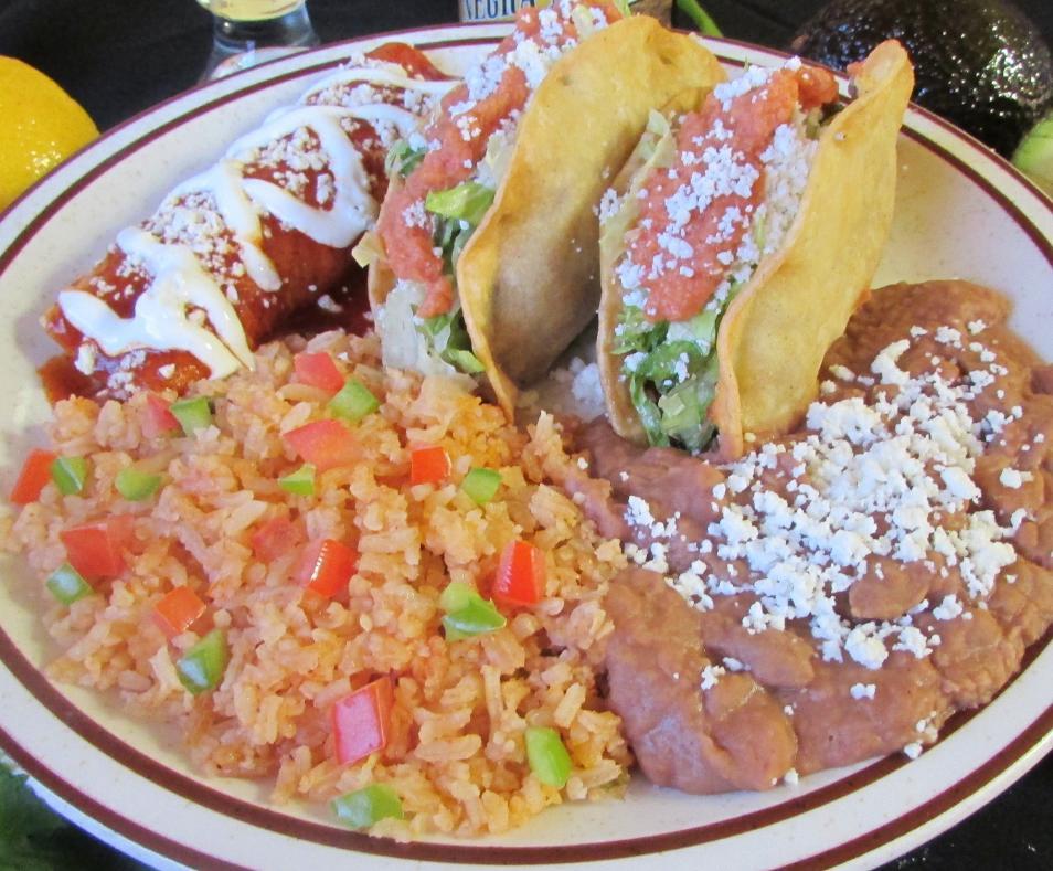 Crispy Tacos and Enchilada