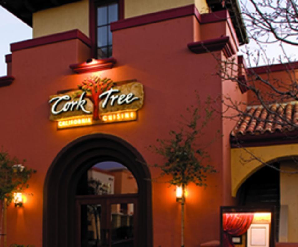 Cork Tree entrance at Dusk