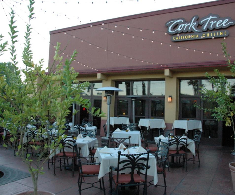 Cork Tree patio at Dusk