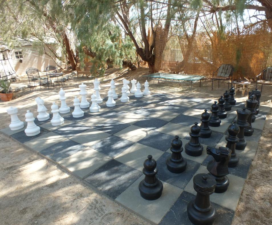 Giant Chess in the Spa Garden at the El Morocco Inn & Day Spa