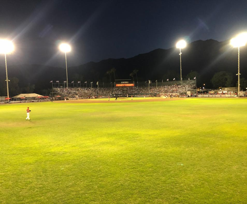 Outfield at night