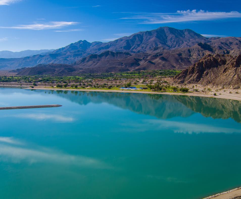 Aerial view LQ lake