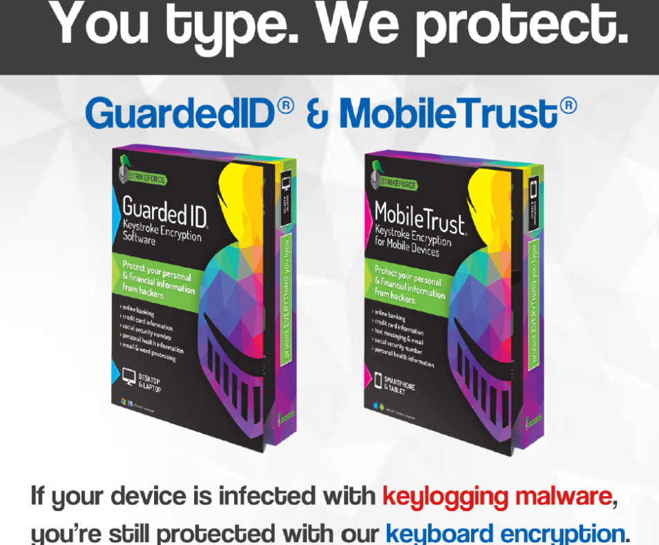 Cyber ID Guard's Products - MobileTrust and GuardedID