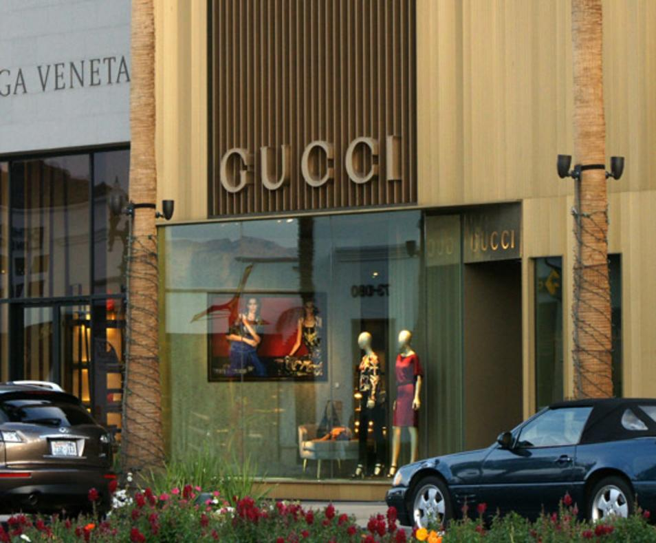 Shops on El Paseo Gucci
