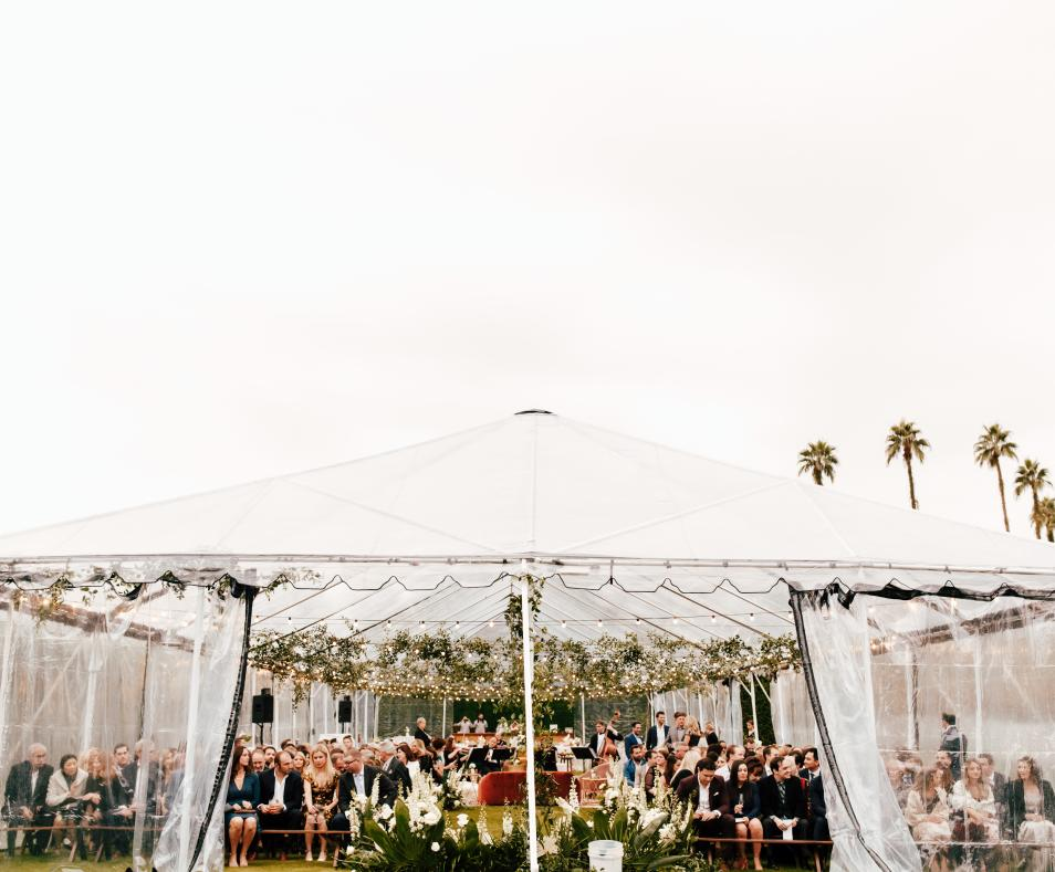 Tented Ceremony by Alexandria Monette Photography