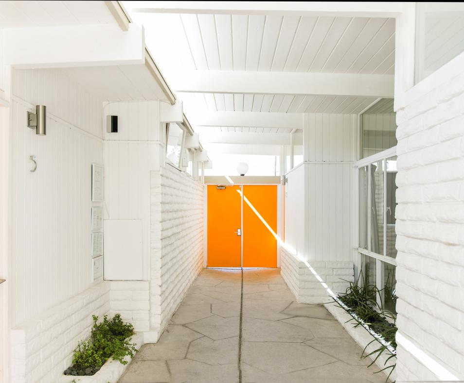 The front entry breezeway at The Amado