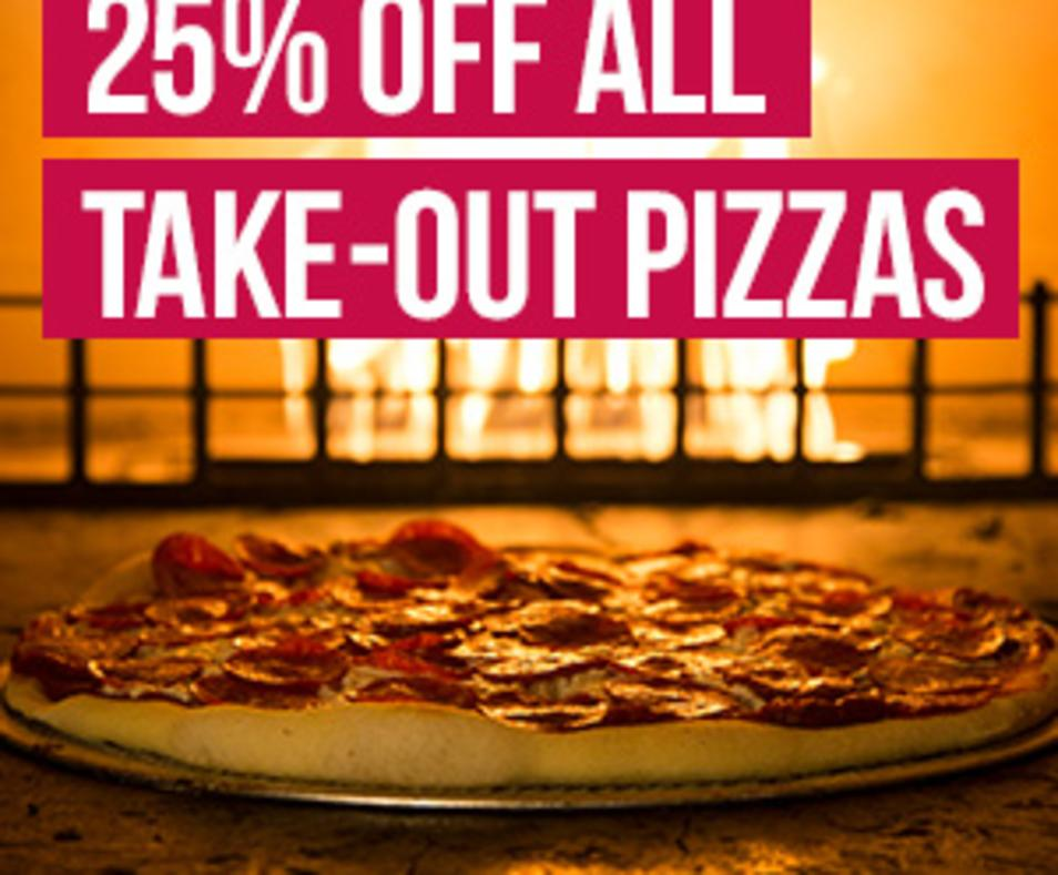 25% off pizza