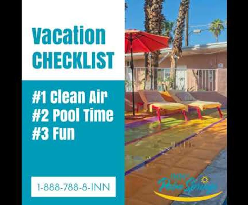Vacation Checklist - Inn at Palm Springs
