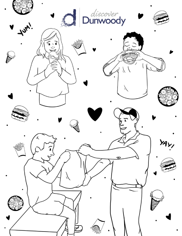Restaurant Coloring Page