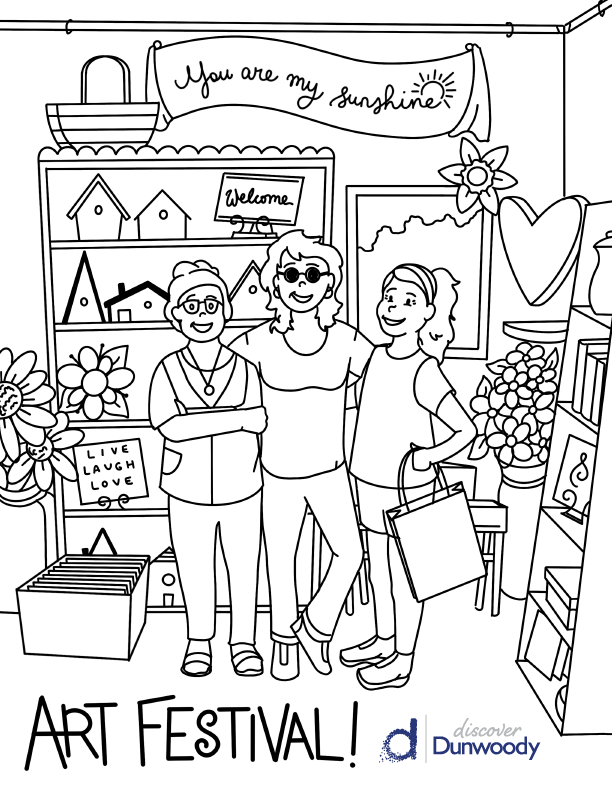 Art Festival Coloring Page