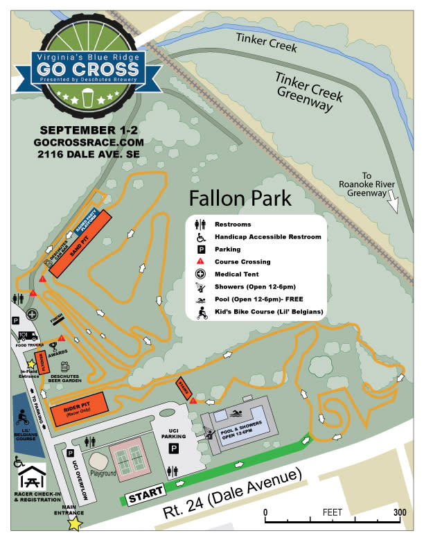 Go Cross Cyclocross Course Map