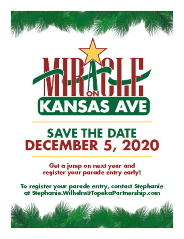 Save the date for Miracle on Kansas Avenue December 5, 2020