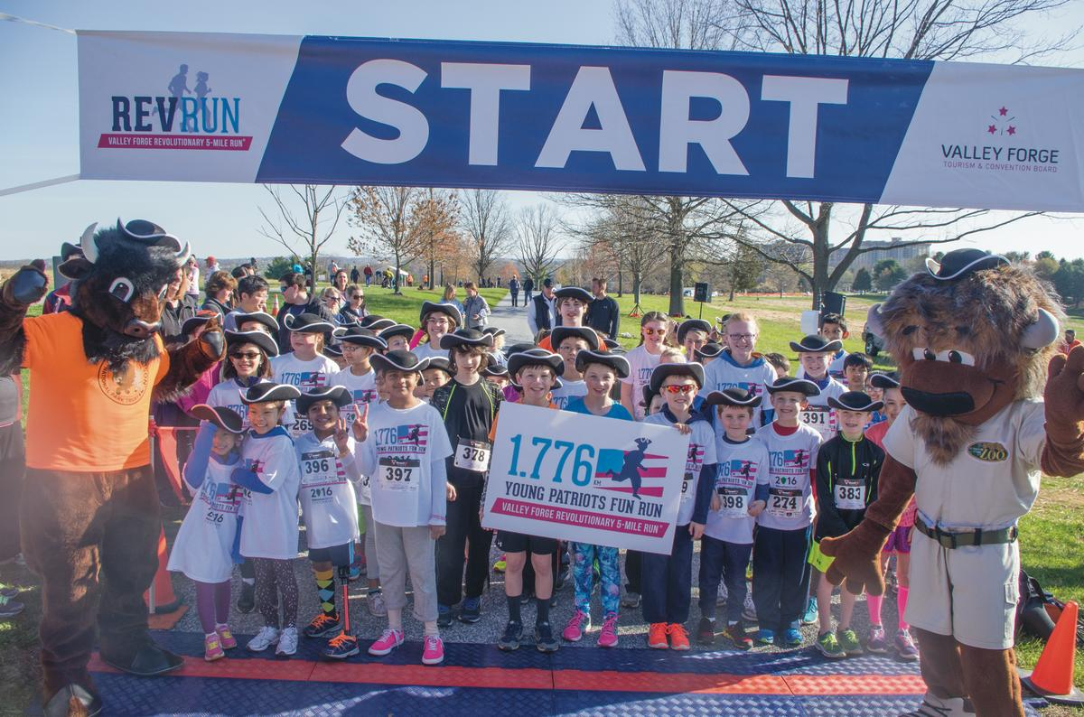 Kids have always been incorporated into the Valley Forge Revolutionary 5-Mile Run, as evidenced by these participants in the Young Patriots Fun Run. But the 2017 Rev Run will test not only kids' physical prowess but their writing chops as well.