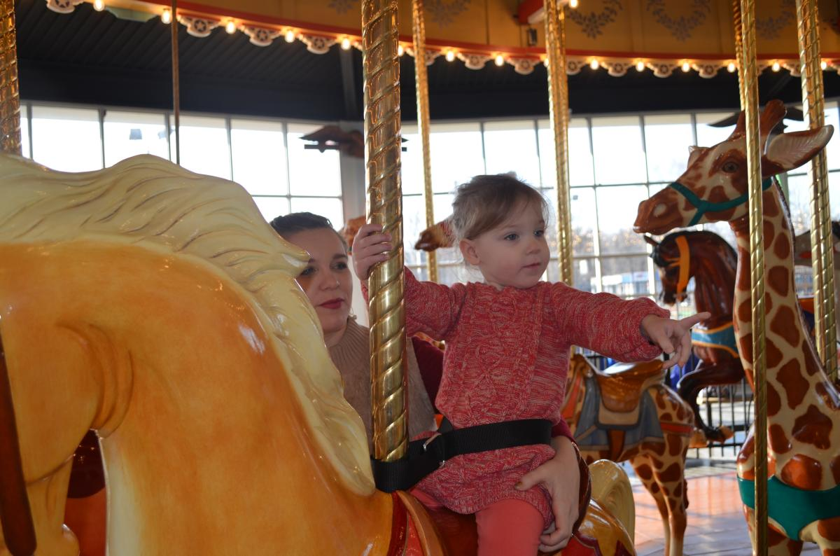 Another satisfied customer on the Carousel at Pottstown