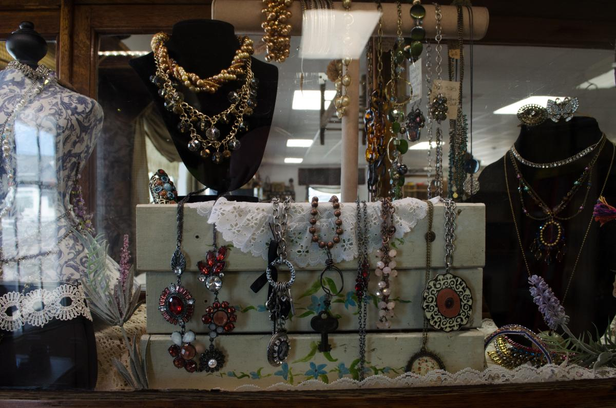 Antique and estate jewelry are always popular at the market.