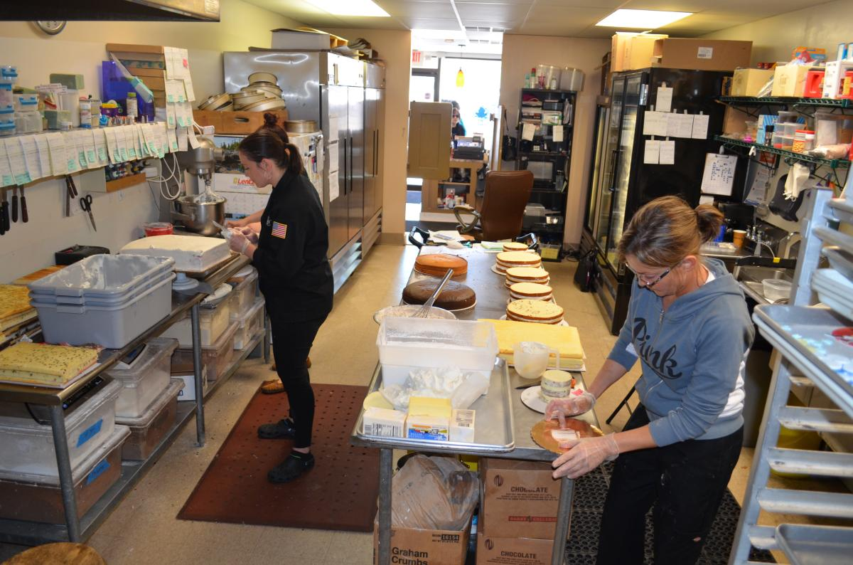 The team at work at Kriebel's Custom Cakes.