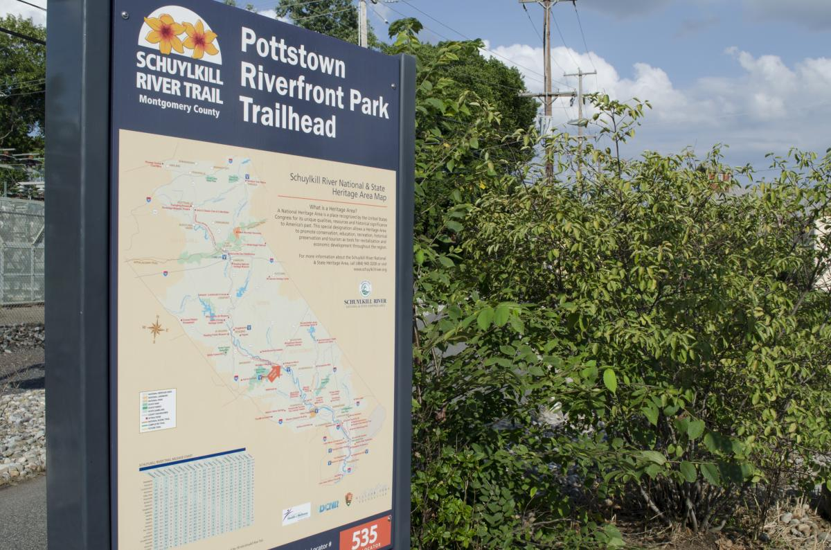 Pottstown's Riverfront Park is one of several trailheads for the SRT, but there are still large gaps that the Heritage Area is working to fill.