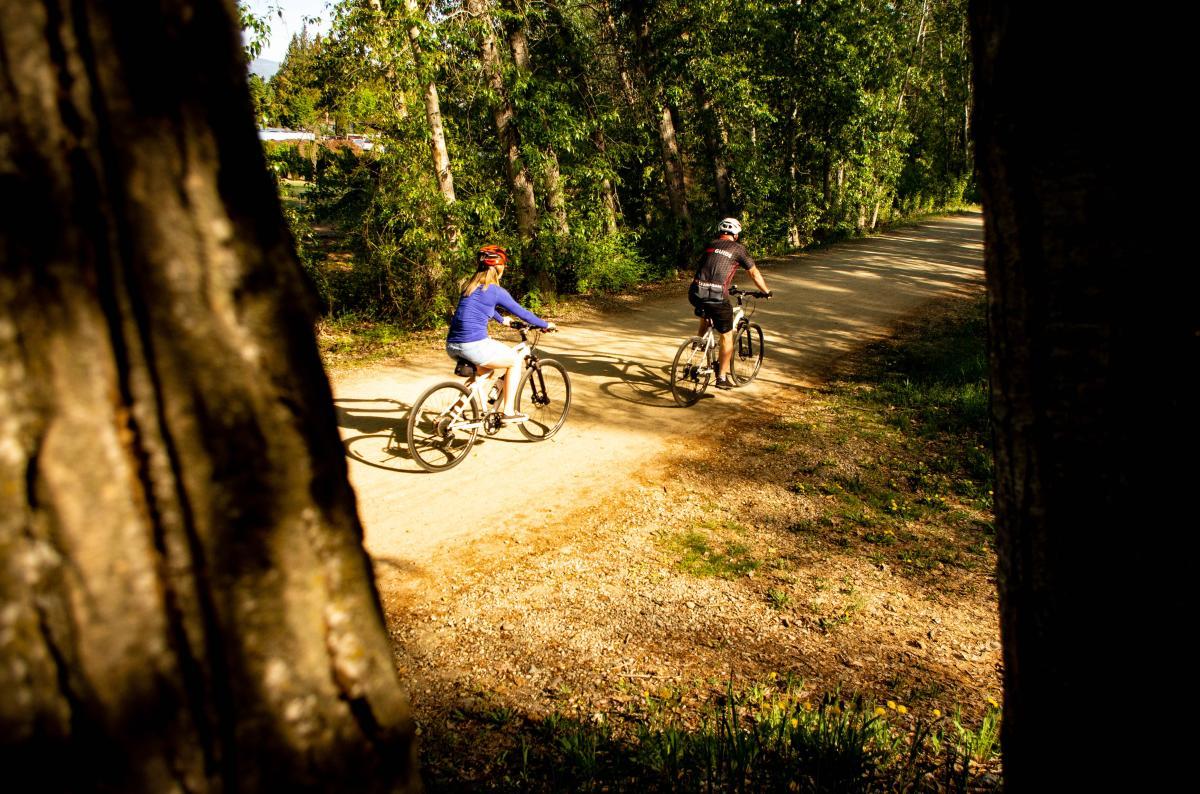 Biking Mission Creek Greenway