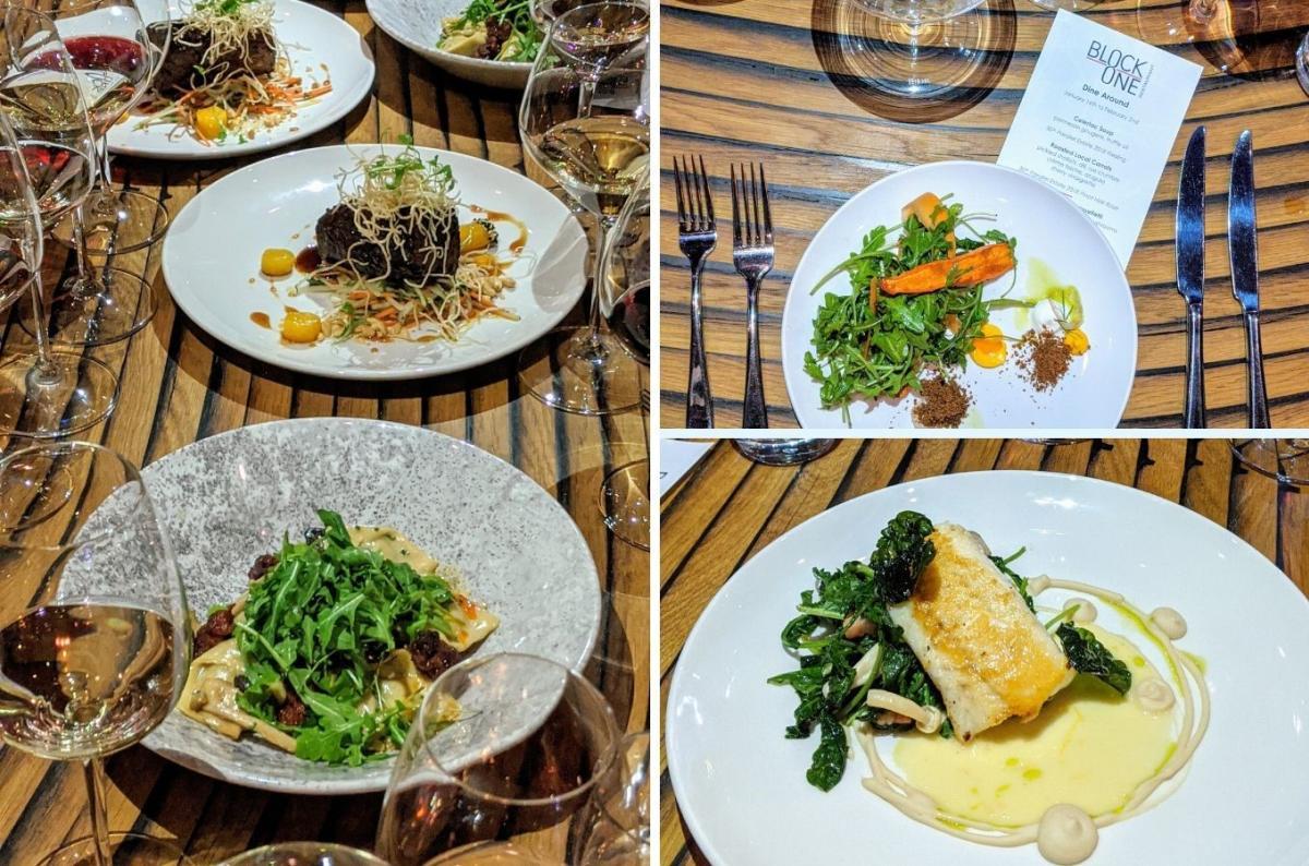 Dine Around Menu Options at Block One Restaurant