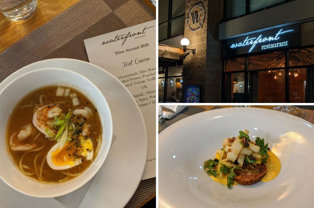 Dine Around Menu Options at Waterfront Restaurant
