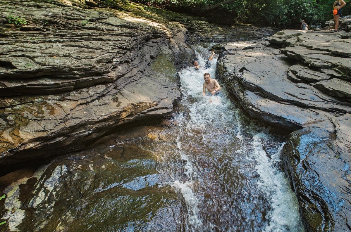 Natural Rock Waterslide