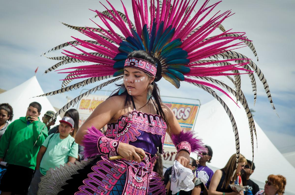 Dancers come from all over for the Gathering of Nations.