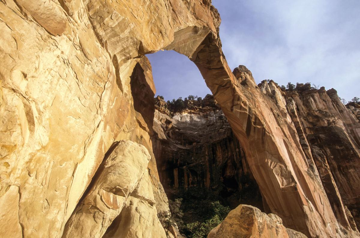 La Ventana Arch in El Malpais National Monument, near Grants