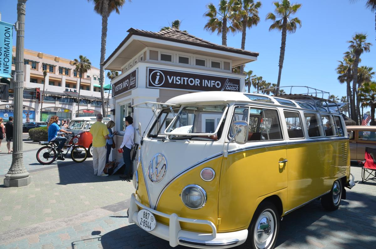 VW Bus Show in Huntington Beach