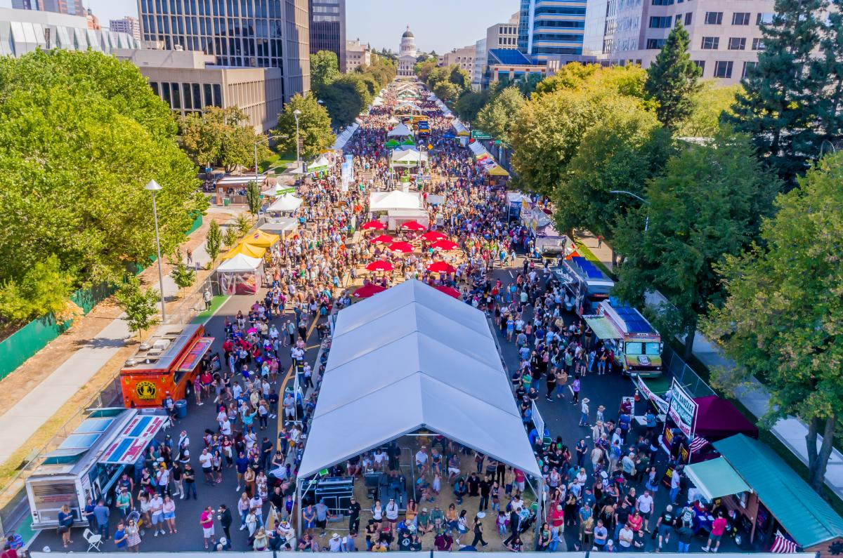 2017 Farm to Fork Festival Drone Shot