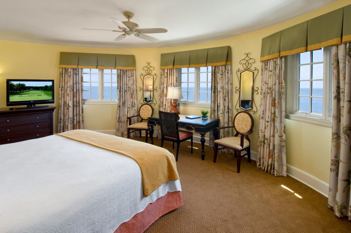 The Governor's Suite at St. Simons Island's King and Prince Beach & Golf Resort is located within the hotel's iconic and historic turret