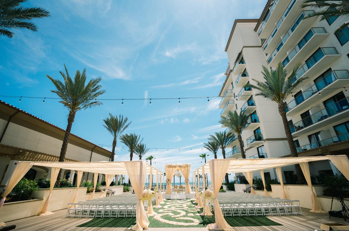 Wedding venue at the Waterfront Beach Resort, a Hilton Hotel in Huntington Beach
