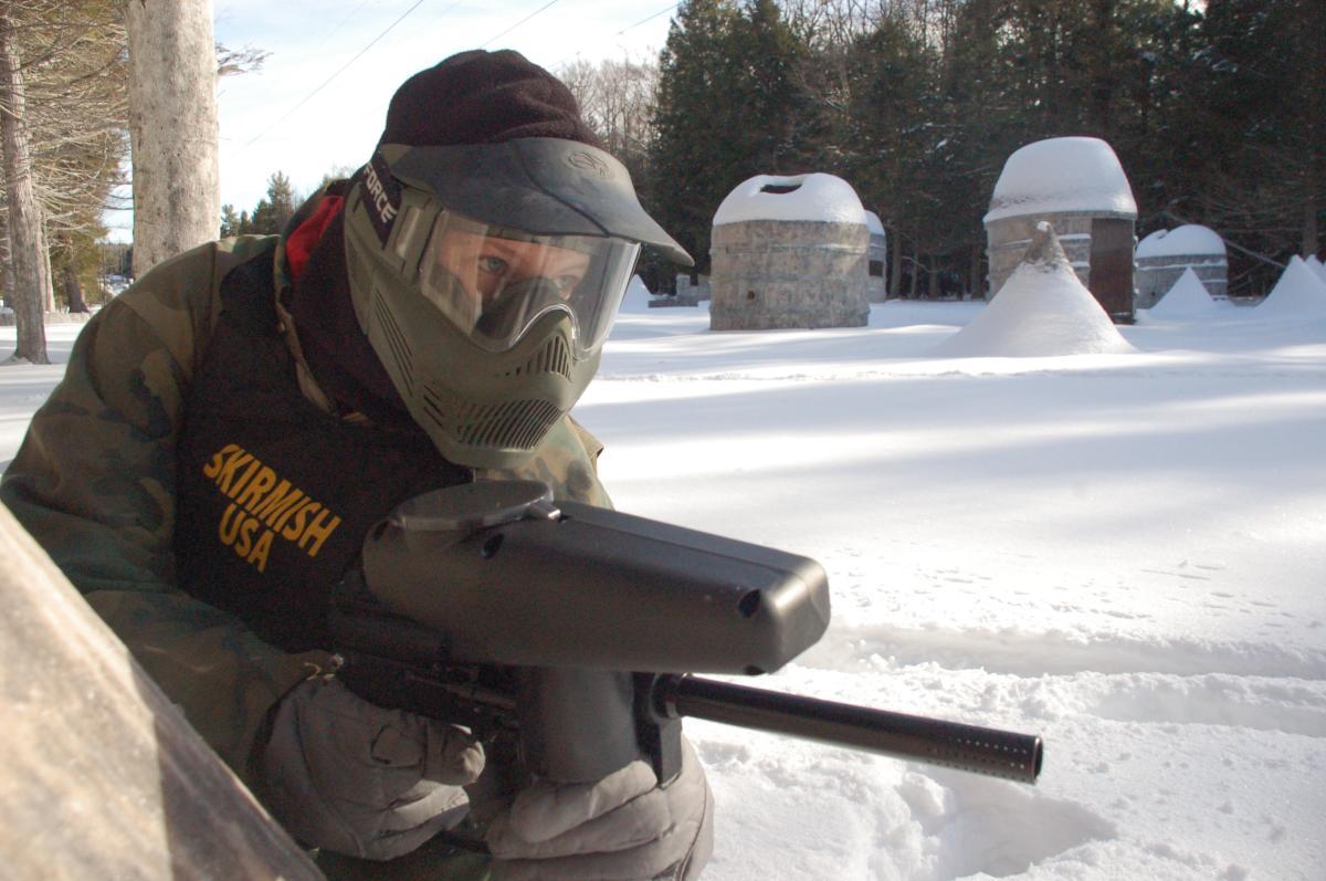 Paintball in the Pocono Mountains
