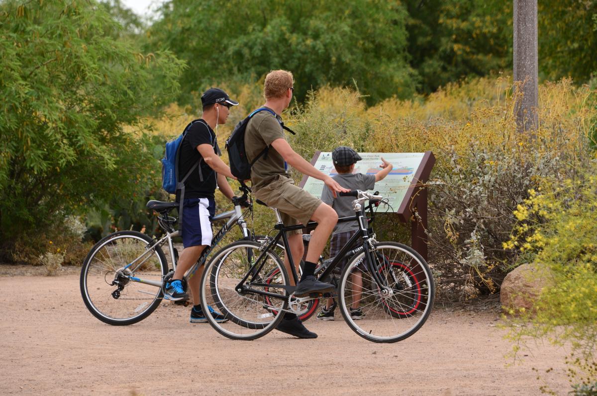 Family Biking at Veterans Oasis Park