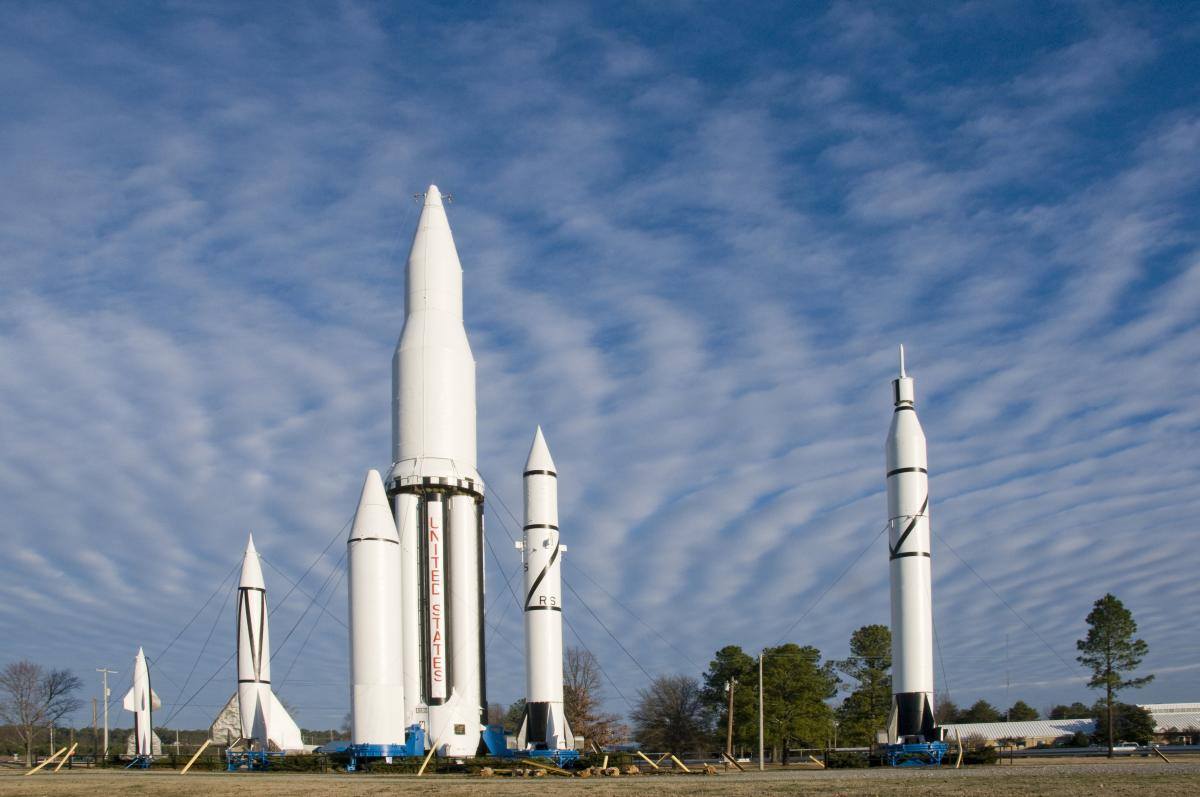 NASA Marshall rocket park