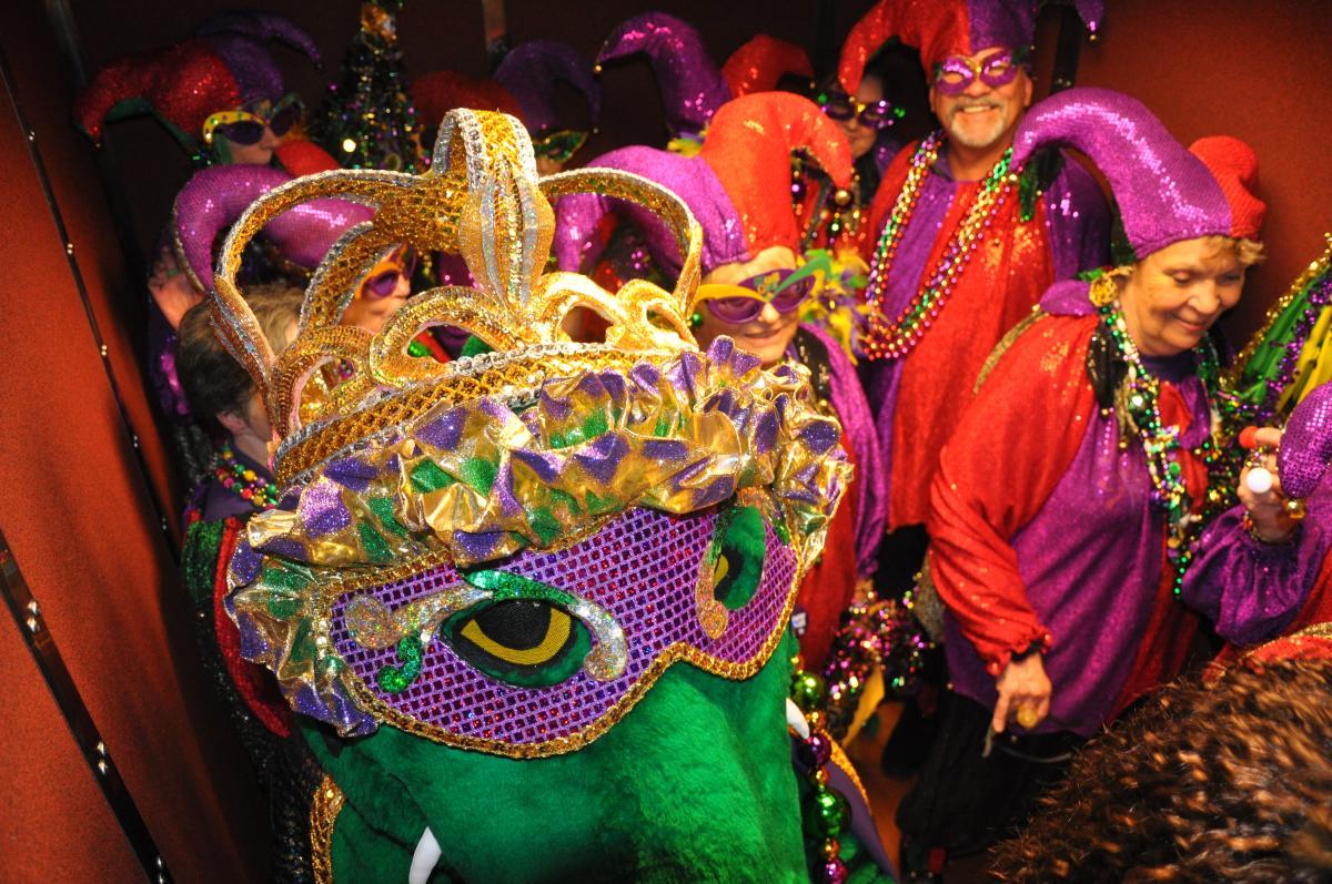 Mardi Gras Revelers Gumbeaux