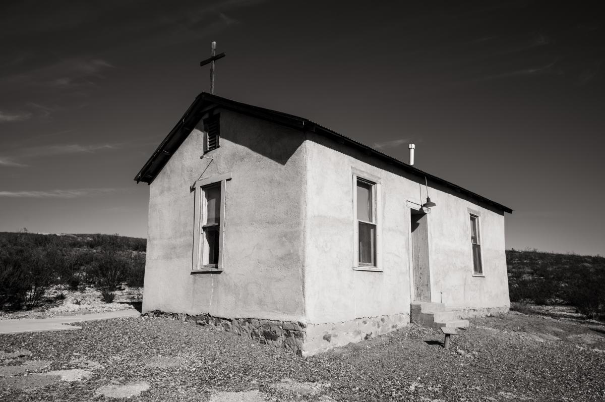 The chapel at Lake Valley Historic Site, New Mexico Magazine