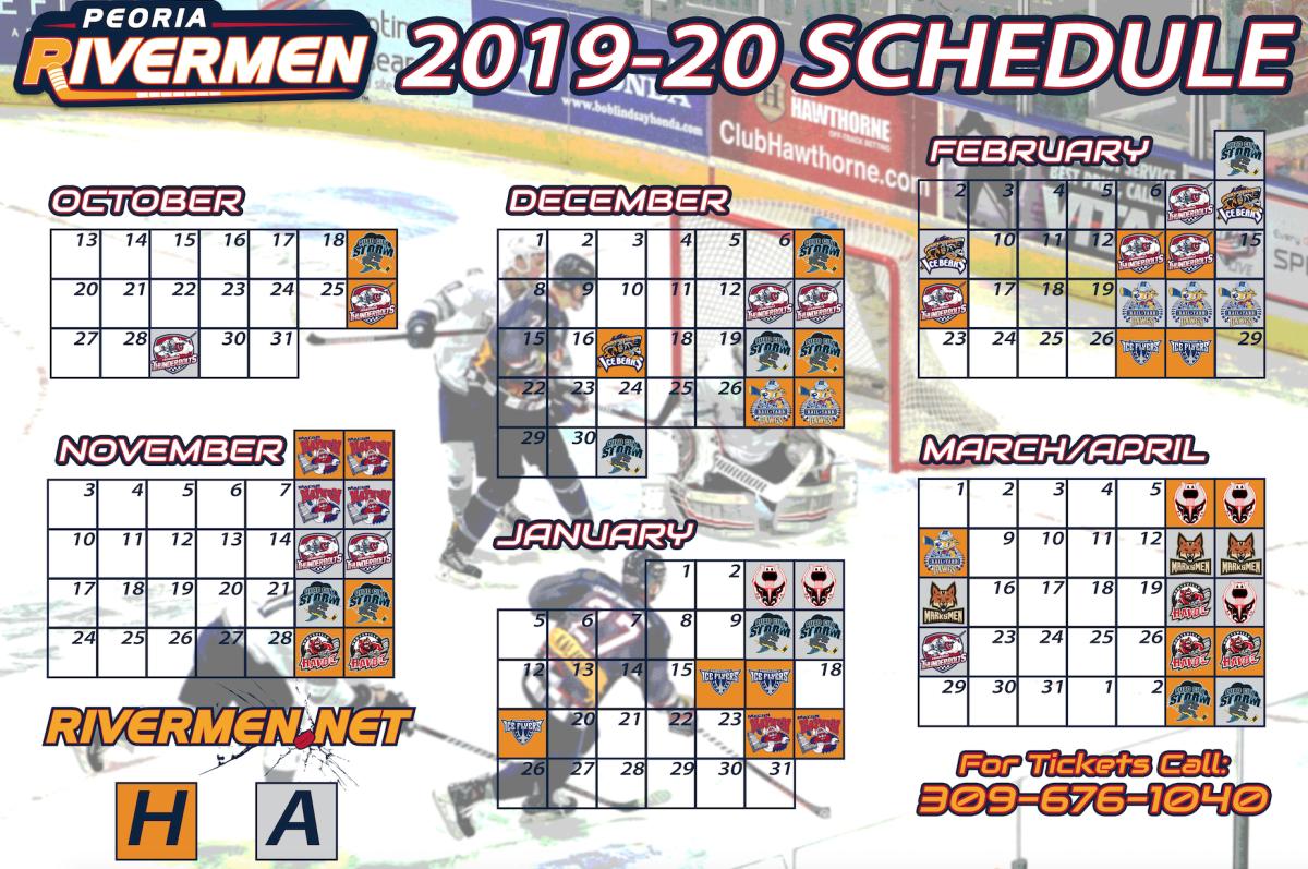 Rivermen Schedule 2019-20