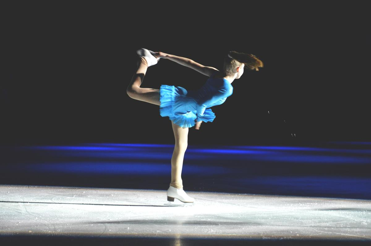 Spring Ice Show - spinning girl in blue
