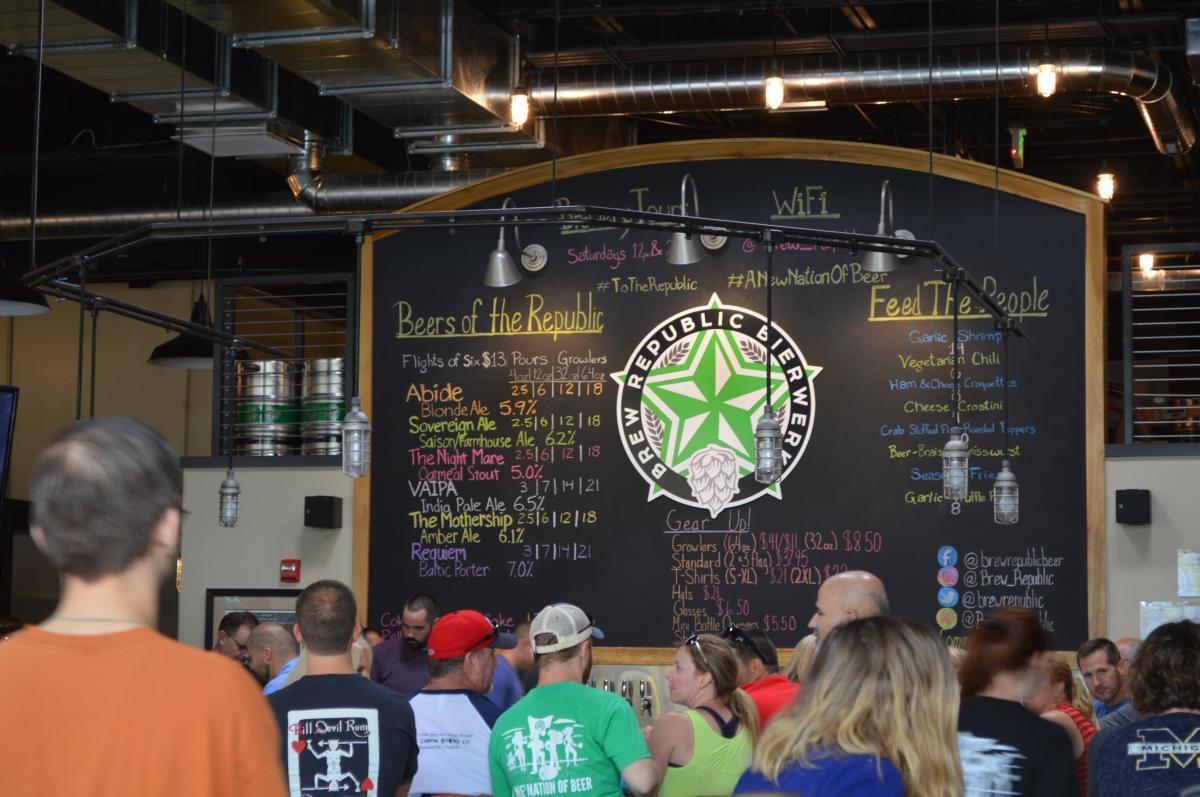 Brew Republic Bierwerks bar full of people