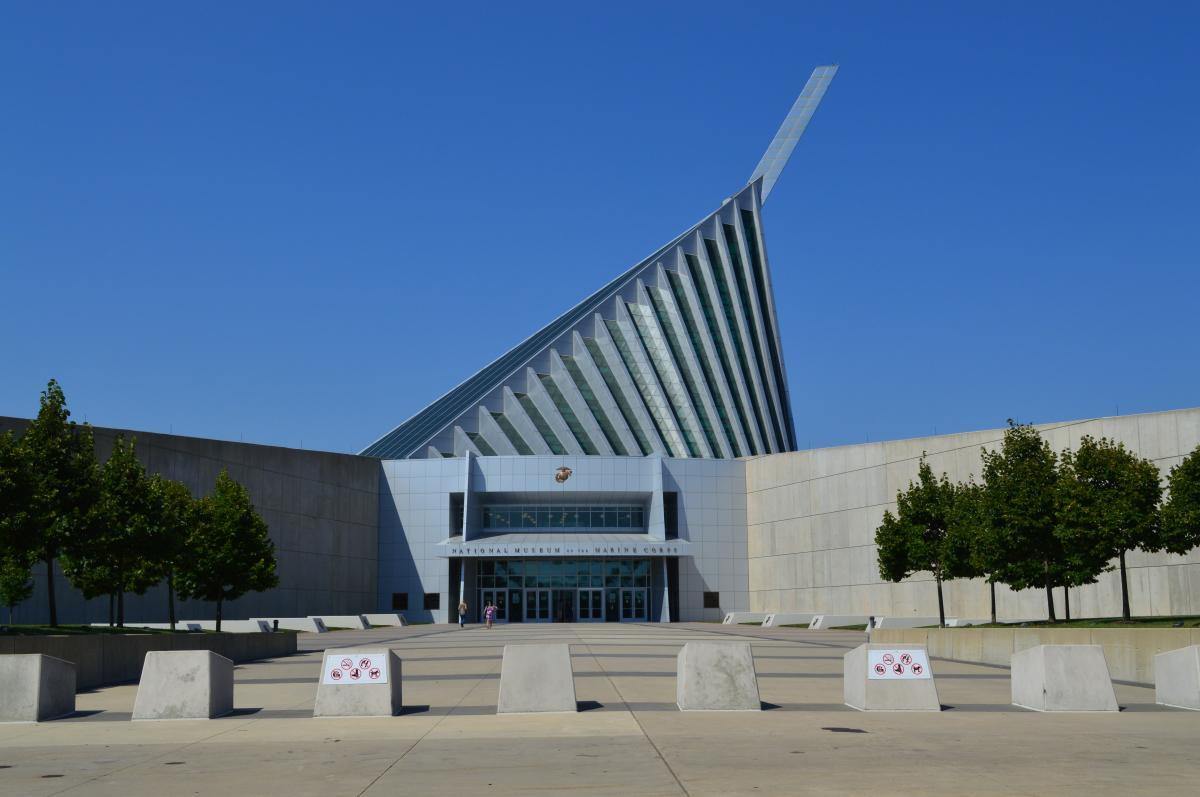 entrance to the National Museum of the Marine Corps