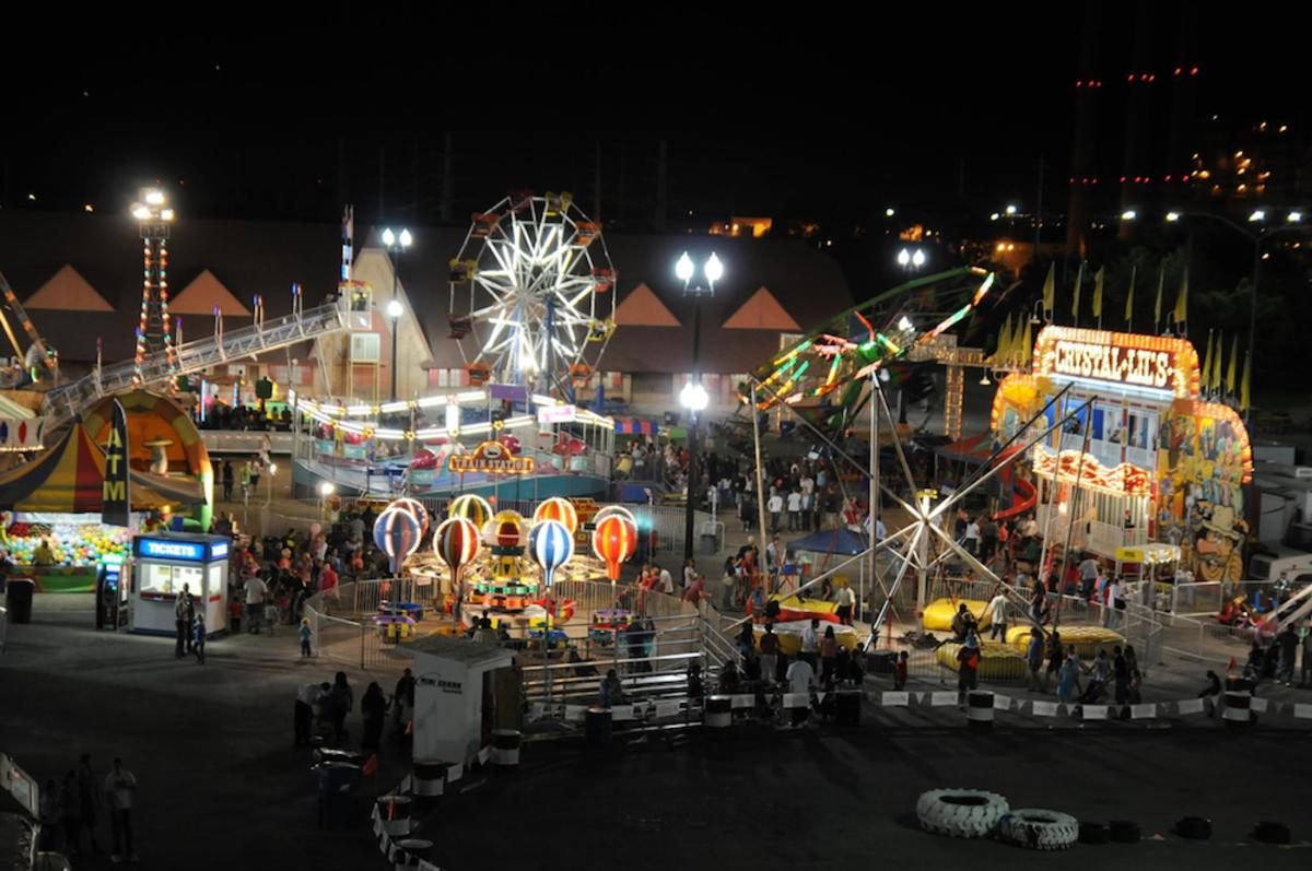 Utah State Fair Midway at Night