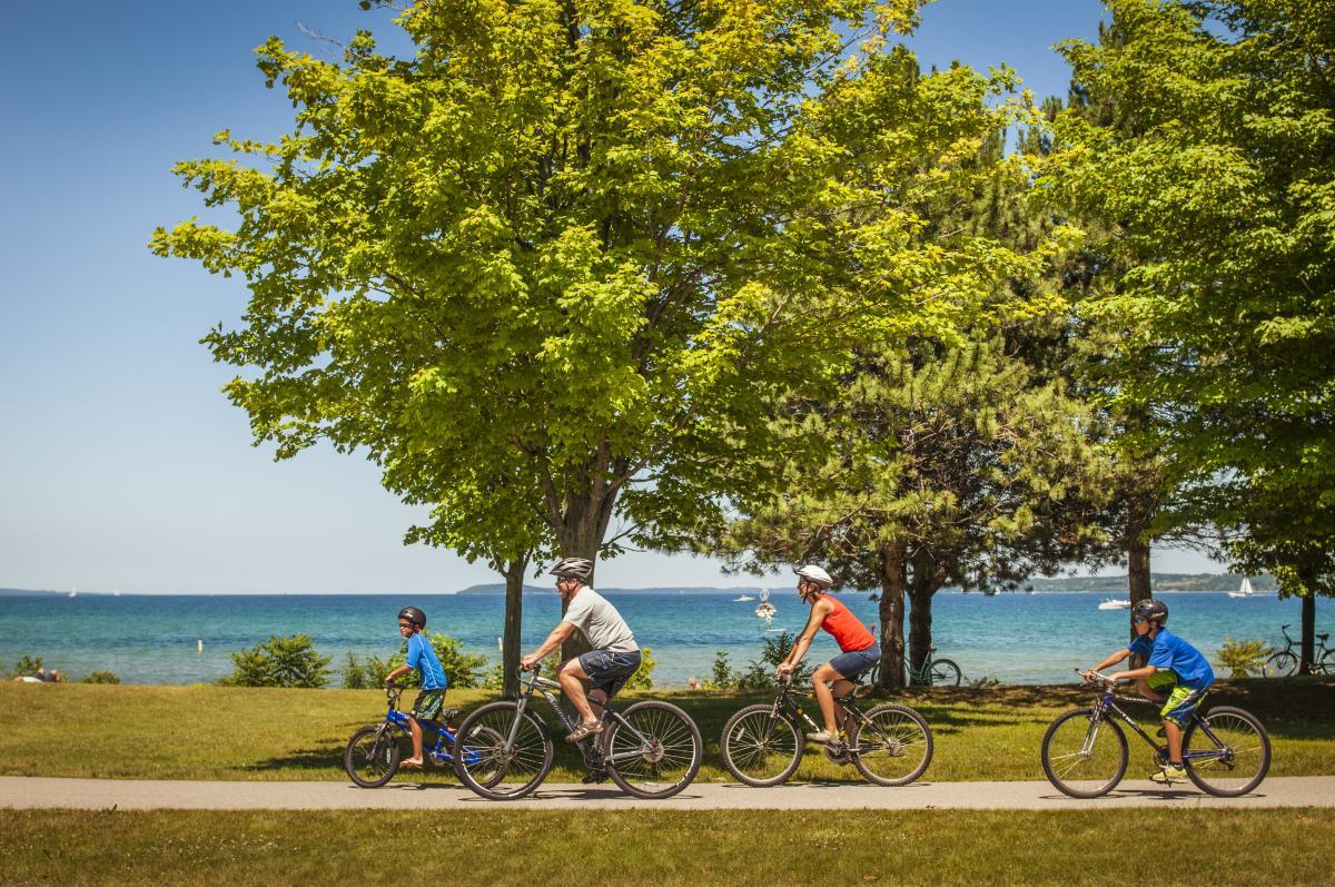 Family Biking on the TART Trail