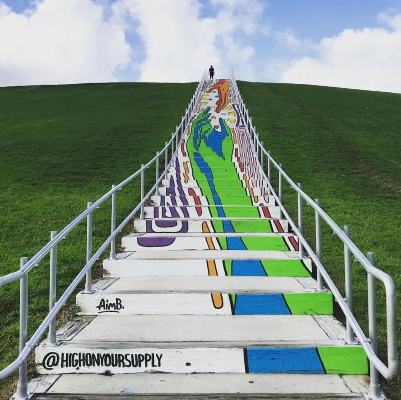 Mount Trashmore Stairs