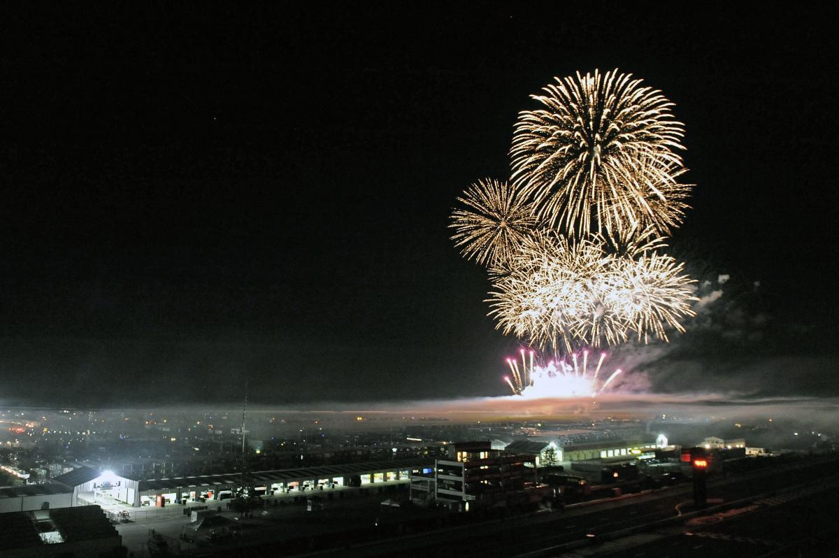 Fireworks at Pocono Raceway in the Pocono Mountains