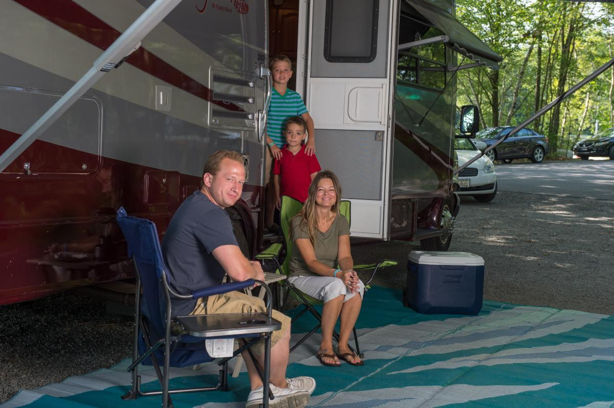 Camping in the Pocono Mountains